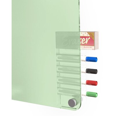 Ghent Harmony 4 Markers and Eraser Glass Board, 4' x 4'