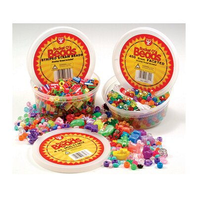 Hygloss Products Inc Bucket O Beads 4oz Multi-mix