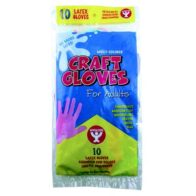 Hygloss Products Inc Craft Gloves Kids Size 100 Per Box