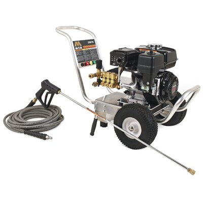 CA Series 2700 PSI 6.5 HP Honda OHV Cold Water Gasoline Pressure Washer by Mi-T-M ...