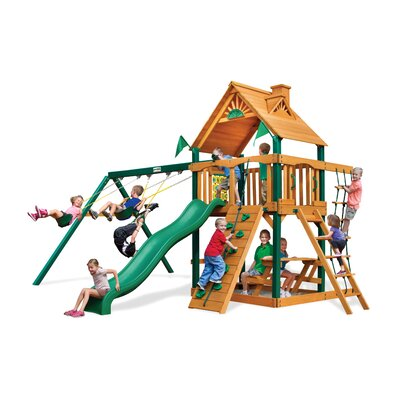 Chateau II with Amber Posts Cedar Swing Set Product Photo