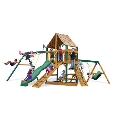 Frontier Swing Set with Western Ginger Sunbrella Product Photo