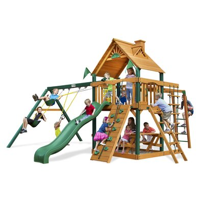 Navigator Swing Set with Wood Roof Canopy Product Photo