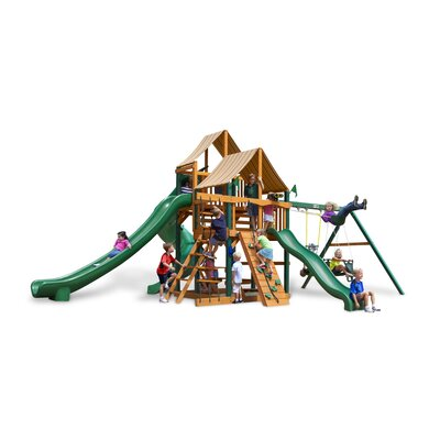 Great Skye II Swing Set with Western Ginger Sunbrella Canopy Product Photo