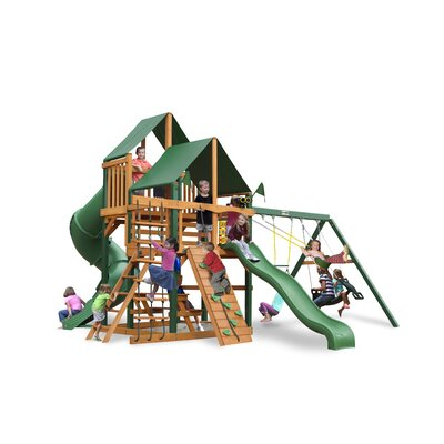 Great Skye I Swing Set with Canvas Green Sunbrella Canopy Product Photo