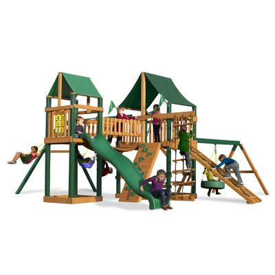 Pioneer Peak Swing Set with Canvas Green Sunbrella Canopy Product Photo