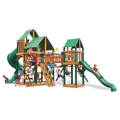 Treasure Trove Swing Set with Green Vinyl Canopy Product Photo