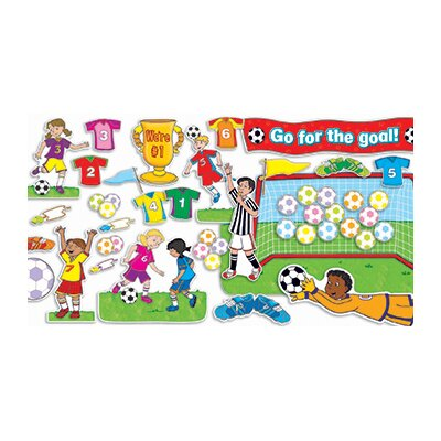 Teachers Friend Soccer Goals Grade Pk-5 Bulletin Board Cut Out