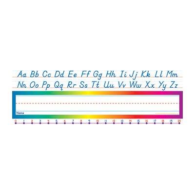 Teachers Friend Alphabet-Number Line Modern Name Tag