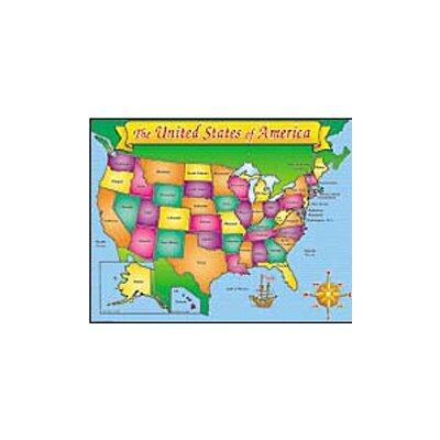 Teachers Friend Usa Map Friendly Chart 17x22