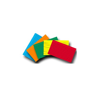 Top Notch Teacher Products Index Cards 4x6 Lined 100 Ct Brite