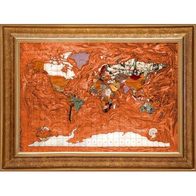 Alexander Kalifano Contempo Map in Copper Amber
