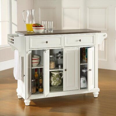 Cambridge Kitchen Island with Stainless Steel Top Product Photo
