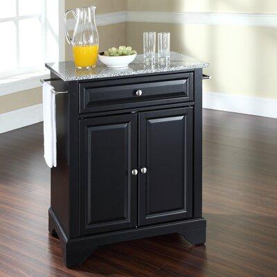 Crosley LaFayette Kitchen Cart with Granite Top