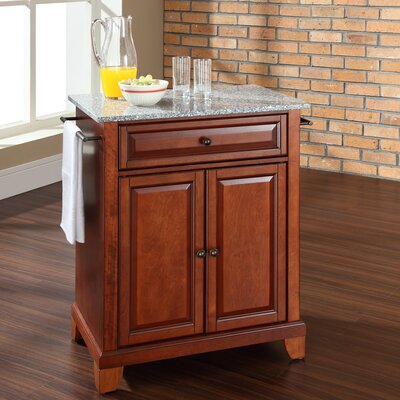 Newport Kitchen Cart with Granite Top Product Photo