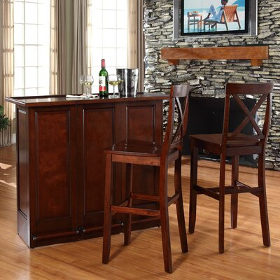 Crosley Bar Set with Wine Storage
