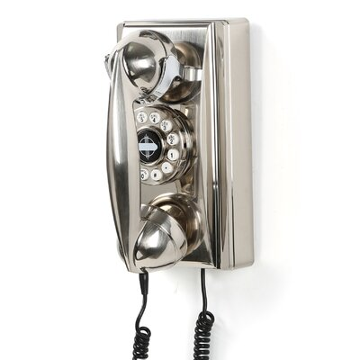 Crosley 302 Classic Brushed Chrome Wall Phone