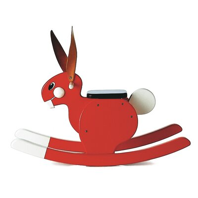 Playsam Rocking Rabbit in Red