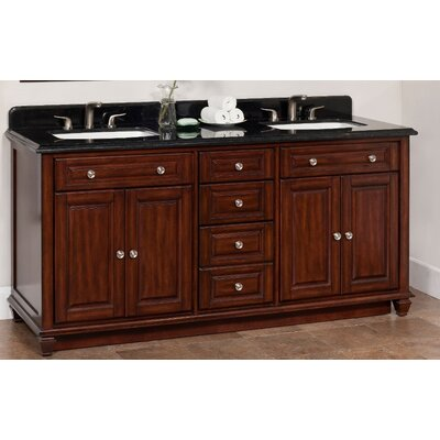 "Ely 72"" Double Bathroom Vanity Set Product Photo"