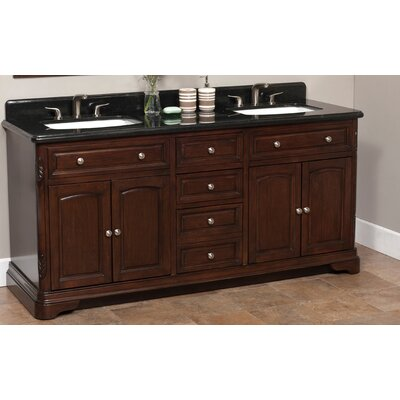 "Luton 72"" Double Bathroom Vanity Set Product Photo"