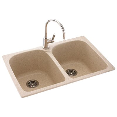 "Metropolitan 33"" x 22"" Double Bowl Kitchen Sink Product Photo"