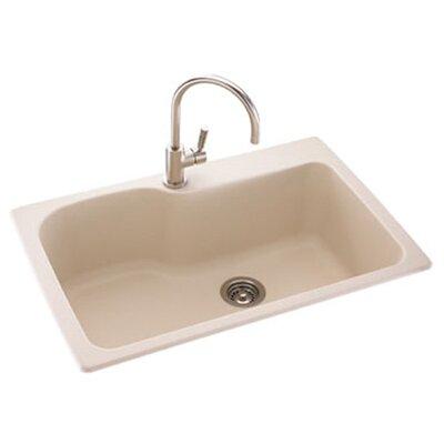 "Metropolitan 33"" x 22"" Large Single Bowl Kitchen Sink Product Photo"