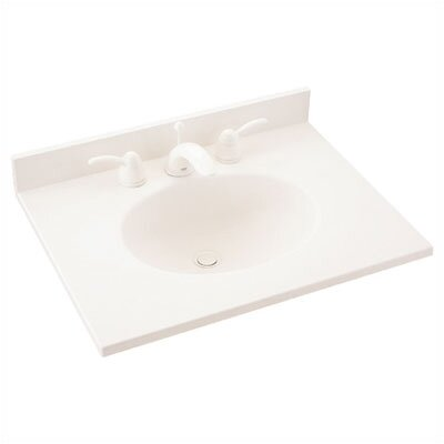 "Swanstone Everyday Essentials 43"" Ellipse Single Bowl Vanity Top"
