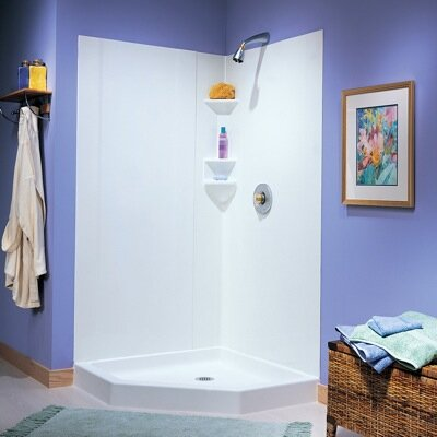 Everyday Essentials 3-Piece Gloss Shower Walls Product Photo