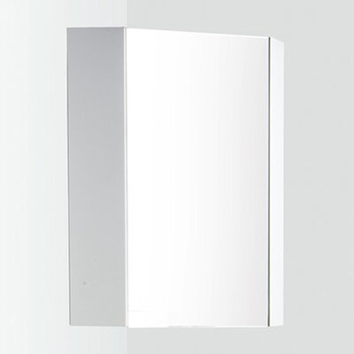 "Coda 14"" x 23.5"" Corner Mount Medicine Cabinet Product Photo"