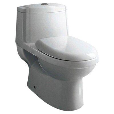 Dorado Dual Flush 0.8 GPF / 1.6 GPF Elongated 1 Piece Toilet with Soft Close Seat Product Photo