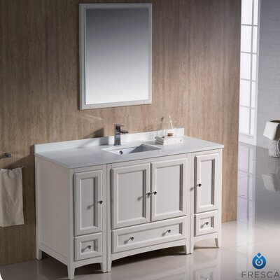 "Oxford 54"" Single Traditional Bathroom Vanity Set with Mirror Product Photo"