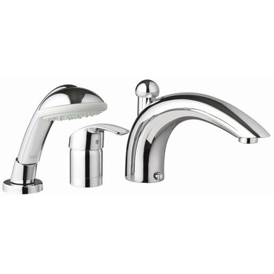 Eurosmart Single Handle Deck mounted Roman Tub Faucet with Hand Shower Product Photo