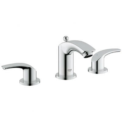 Eurosmart Double Handle Widespread Bathroom Faucet by Grohe