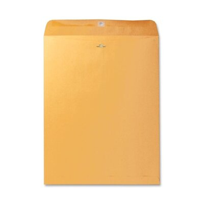 "Business Source Clasp Envelopes,28 lb.,9-1/2""x12-1/2"",100 per Box,Brown Kraft"
