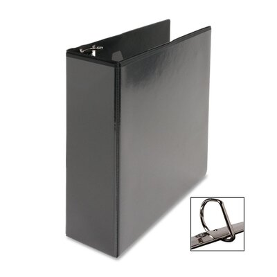 """Business Source D-Ring View Binder, 3"""" Capacity, Black"""