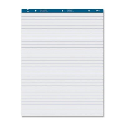 """Business Source Easel Pad, Ruled, 50 Sheets, 27""""x34"""", 2 Count, White"""