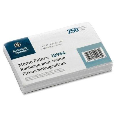 Business Source Memo Filler Sheet (Pack of 250)