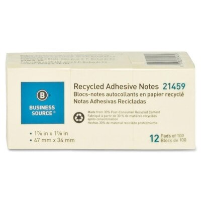 Business Source Recycled Adhesive Note (Pack of 12)
