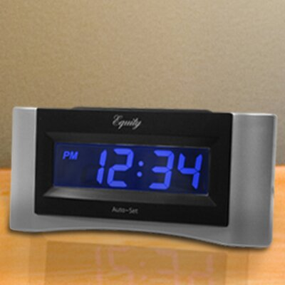 Equity Auto-Set Digital Alarm Clock by La Crosse Technology