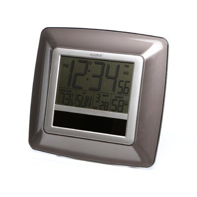Solar Atomic Digital Wall Clock by La Crosse Technology