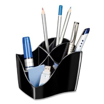 "Cep Desktop Organizer,4 Compartments,4-3/5""x3-1/2""x3-4/5"",Black"