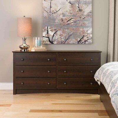 Fremont 6 Drawer Dresser by Prepac