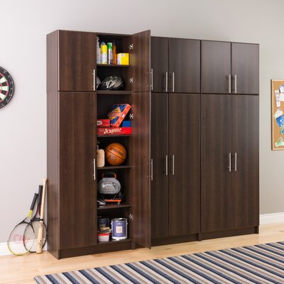 "Elite Espresso 32"" Stackable Wall Cabinet by Prepac"