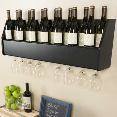 Floating 18 Bottle Wall Mounted Wine Rack by Prepac