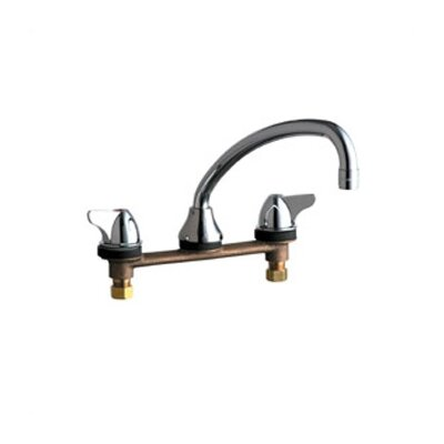 Chicago Faucets 1888 Concealed Deck Mount Double Handle Widespread Kitchen Faucet
