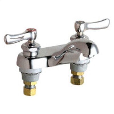 Centerset Bathroom Faucet with Double Lever Handles by Chicago Faucets