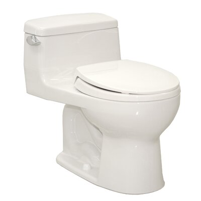Supreme® Eco 1.28 GPF Round 1 Piece Toilet with SoftClose Seat by Toto