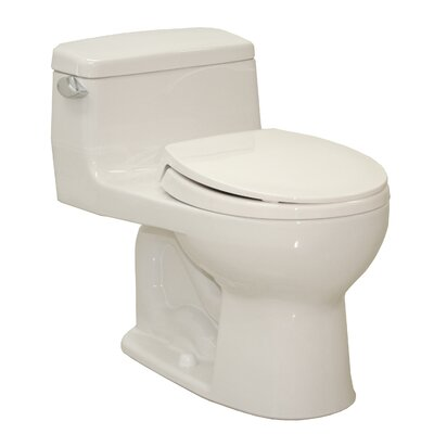 Supreme Power Gravity Low Consumption 1.6 GPF Round 1 Piece Toilet by Toto