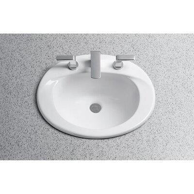 Toto Supreme Self Rimming Bathroom Sink with SanaGloss Glazing