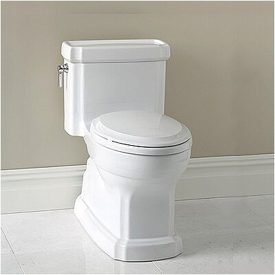 Guinevere ADA Compliant 1.28 GPF Elongated 1 Piece Toilet with SanaGloss Glazing Product Photo